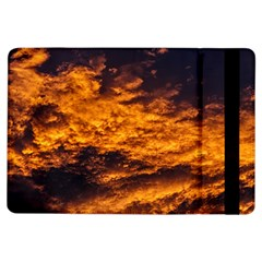 Abstract Orange Black Sunset Clouds iPad Air Flip