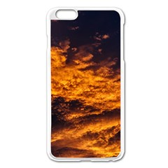 Abstract Orange Black Sunset Clouds Apple Iphone 6 Plus/6s Plus Enamel White Case