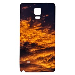 Abstract Orange Black Sunset Clouds Galaxy Note 4 Back Case