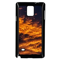 Abstract Orange Black Sunset Clouds Samsung Galaxy Note 4 Case (black)