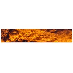 Abstract Orange Black Sunset Clouds Flano Scarf (Large)