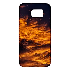 Abstract Orange Black Sunset Clouds Galaxy S6