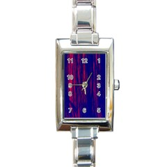 Abstract Color Red Blue Rectangle Italian Charm Watch