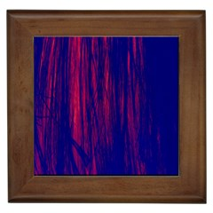 Abstract Color Red Blue Framed Tiles