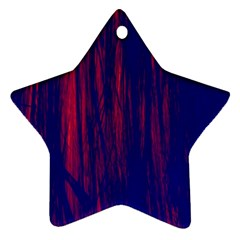 Abstract Color Red Blue Ornament (star)