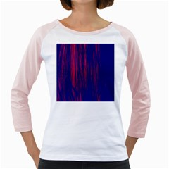 Abstract Color Red Blue Girly Raglans