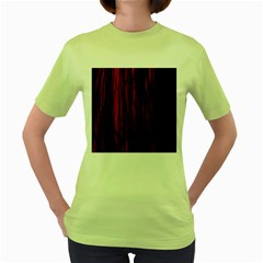 Abstract Color Red Blue Women s Green T-Shirt