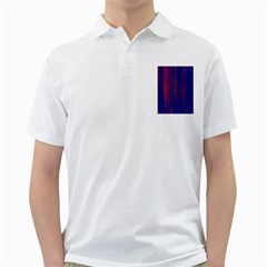 Abstract Color Red Blue Golf Shirts