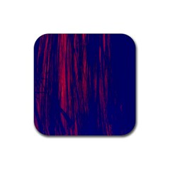 Abstract Color Red Blue Rubber Coaster (square)