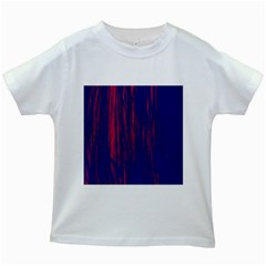 Abstract Color Red Blue Kids White T Shirts
