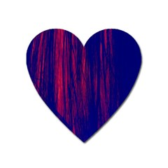 Abstract Color Red Blue Heart Magnet