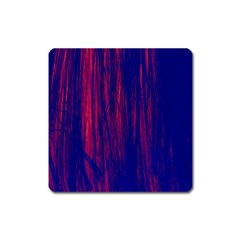 Abstract Color Red Blue Square Magnet