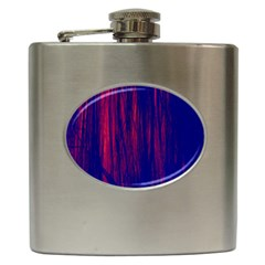 Abstract Color Red Blue Hip Flask (6 Oz)