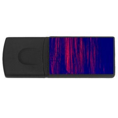Abstract Color Red Blue USB Flash Drive Rectangular (1 GB)