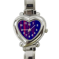 Abstract Color Red Blue Heart Italian Charm Watch