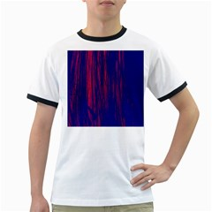Abstract Color Red Blue Ringer T-Shirts