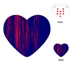 Abstract Color Red Blue Playing Cards (heart)