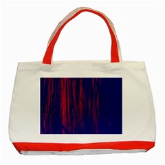 Abstract Color Red Blue Classic Tote Bag (red)