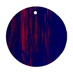 Abstract Color Red Blue Round Ornament (two Sides)