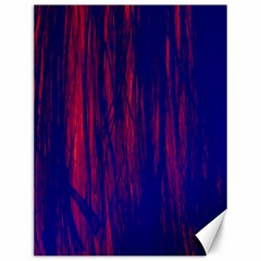 Abstract Color Red Blue Canvas 12  X 16