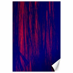 Abstract Color Red Blue Canvas 12  X 18
