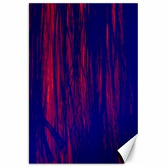 Abstract Color Red Blue Canvas 20  X 30