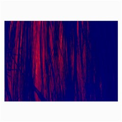 Abstract Color Red Blue Large Glasses Cloth