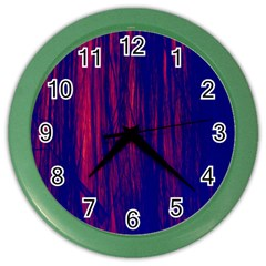 Abstract Color Red Blue Color Wall Clocks