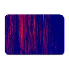 Abstract Color Red Blue Plate Mats