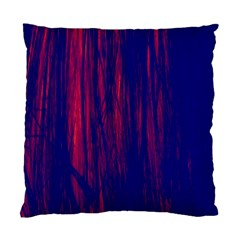 Abstract Color Red Blue Standard Cushion Case (one Side)