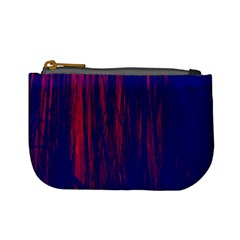 Abstract Color Red Blue Mini Coin Purses