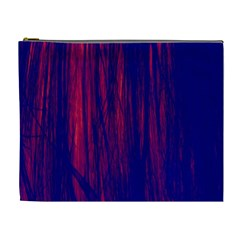 Abstract Color Red Blue Cosmetic Bag (xl)
