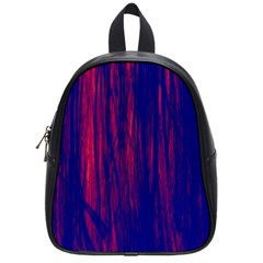 Abstract Color Red Blue School Bags (small)