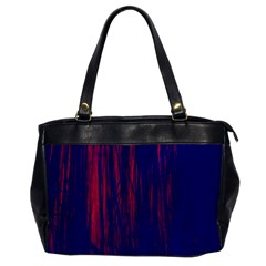 Abstract Color Red Blue Office Handbags