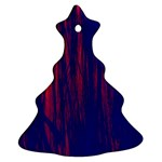 Abstract Color Red Blue Christmas Tree Ornament (Two Sides) Front