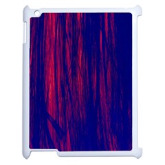 Abstract Color Red Blue Apple Ipad 2 Case (white)