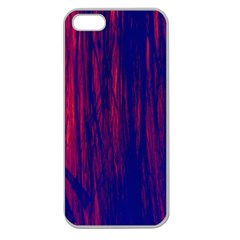 Abstract Color Red Blue Apple Seamless iPhone 5 Case (Clear)