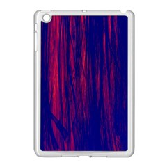 Abstract Color Red Blue Apple iPad Mini Case (White)