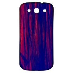 Abstract Color Red Blue Samsung Galaxy S3 S III Classic Hardshell Back Case