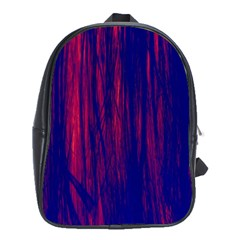 Abstract Color Red Blue School Bags (XL)