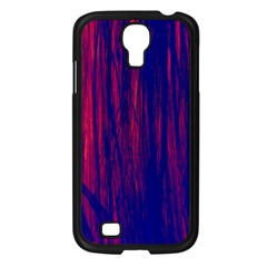 Abstract Color Red Blue Samsung Galaxy S4 I9500/ I9505 Case (black)