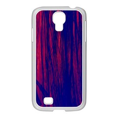 Abstract Color Red Blue Samsung GALAXY S4 I9500/ I9505 Case (White)