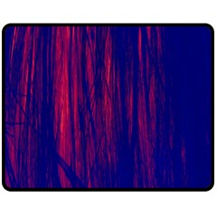 Abstract Color Red Blue Double Sided Fleece Blanket (Medium)
