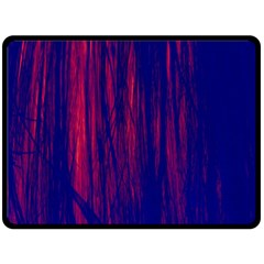 Abstract Color Red Blue Double Sided Fleece Blanket (Large)