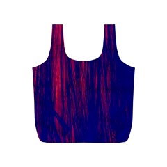 Abstract Color Red Blue Full Print Recycle Bags (S)