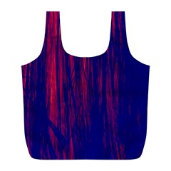 Abstract Color Red Blue Full Print Recycle Bags (L)