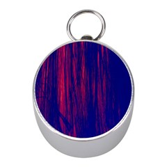 Abstract Color Red Blue Mini Silver Compasses