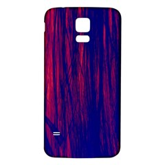 Abstract Color Red Blue Samsung Galaxy S5 Back Case (white)