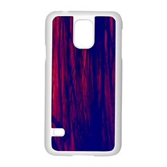 Abstract Color Red Blue Samsung Galaxy S5 Case (White)