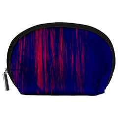Abstract Color Red Blue Accessory Pouches (large)